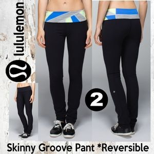 Lululemon Skinny Groove Pant Full-On Luon